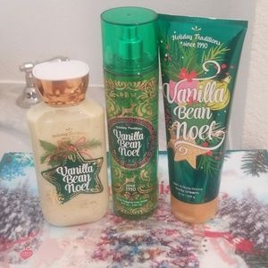 Body lotion, fragrance mist, body cream